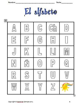 The Spanish Alphabet: Initial Sound-Animals and Insects