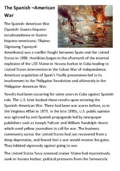 The Spanish–American War Handout