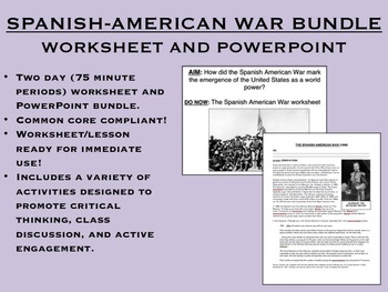 The Spanish American War Bundle - Imperialism - US History/APUSH Common Core