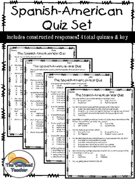 The Spanish American War Quizzes - 4 total!