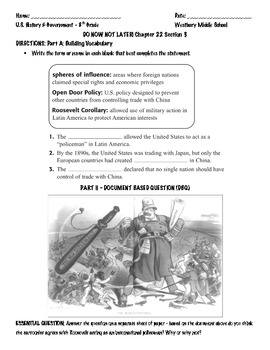 The Spanish American War and Yellow Journalism Lesson Plan and Handouts