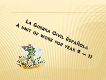 Module of work using the Spanish Civil war as a context - all skills covered