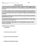 The Spanish Conquest of the Aztec - Worksheet