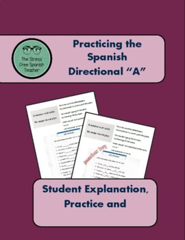 The Spanish Directional A, Practice Worksheet