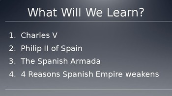 The Spanish Empire Weakens (Age of Exploration) Lecture PowerPoint