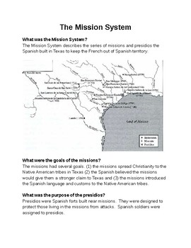 The Spanish Mission System in Texas