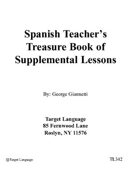 The Spanish Teacher's Treasure Book of Supplemental Lessons