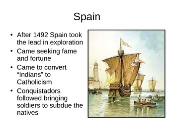 The Spanish and French Colonies in the New World