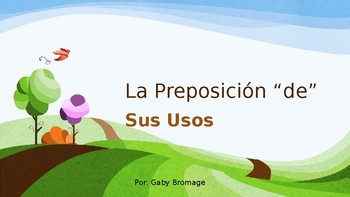 De: The Spanish preposition and its uses