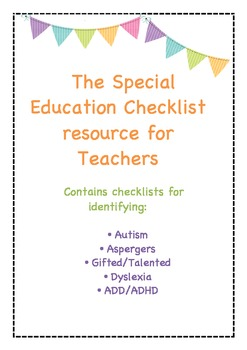 The Special Education Checklist resource for Teachers