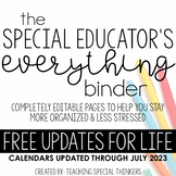 The Special Educator's Everything Binder (Special Education Teacher Planner)