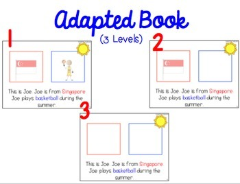 The Special Olympics World Games ADAPTED BOOKS for Special Education Classrooms