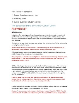 The Speckled Band Questions and Answer Key