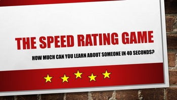 The Speed Rating Game
