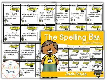 The Spelling Bee- Task Cards- Free