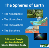 The Spheres of the Earth Lesson - Google Slides and Distan