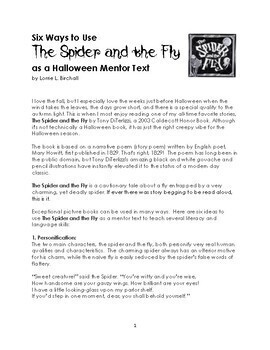 The Spider and The Fly as Halloween Mentor Text
