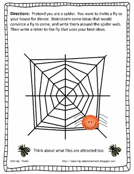 The Spider and The Fly a Letter Writing Activity