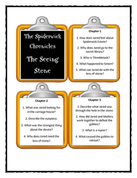 The Spiderwick Chronicles THE SEEING STONE - Discussion Cards