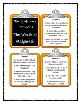 The Spiderwick Chronicles THE WRATH OF MULGARATH - Discussion Cards