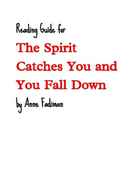 The Spirit Catches You and You Fall Down (Anne Fadiman) reading guide