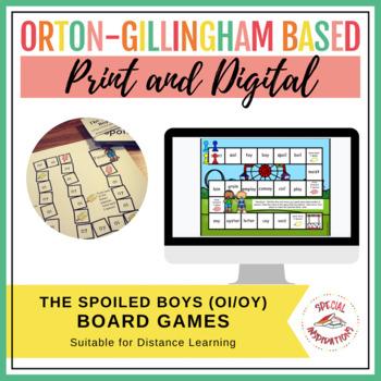The Spoiled Boys!! (an oi/oy board game activity) Orton-Gi