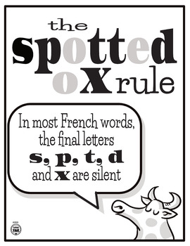 A French Pronunciation Poster: The Spotted Ox Rule