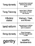 The Spread of Civilization in East and Southeast Asia Vocabulary Flashcards