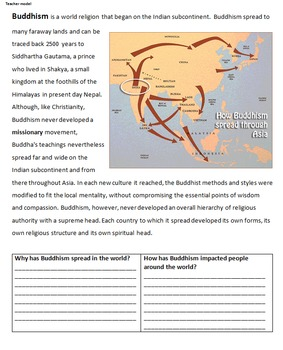 The Spread of Buddhism - Beliefs of India and China