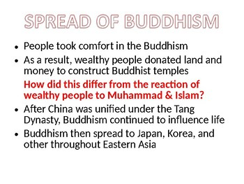The Spread of Buddhism in Tang China Lesson