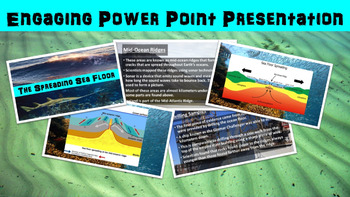 Spreading Seafloor No Prep Lesson with Power Point, Worksheet and Word Search