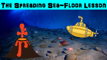 Spreading Seafloor No Prep Lesson with Power Point, Worksh