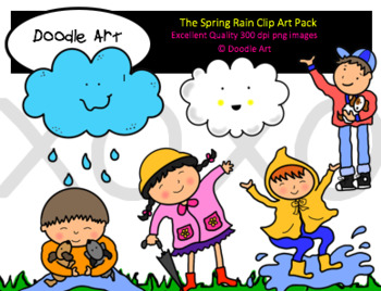 The Spring Rain Clipart Pack