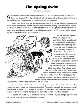 The Spring Swim: An Adapted Fable