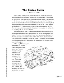 The Spring Swim: An Adapted Fable (Lexile 790)