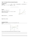 The Squeeze (Sandwich) Theorem and Special Trig Limits Notes