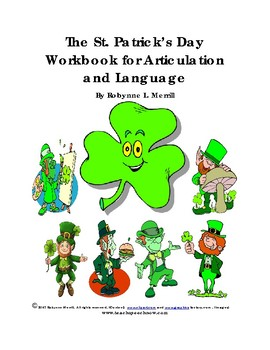 The St. Patrick's Day Workbook for Articulation and Language