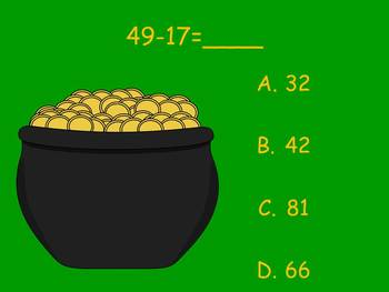 The St. Patrick's Day Addition and Subtraction - PowerPoint Game