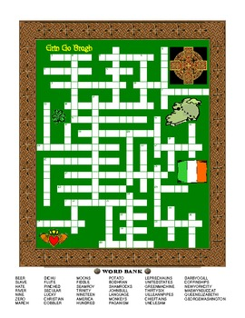 The St Patrick's Day Times and Irish Crossword
