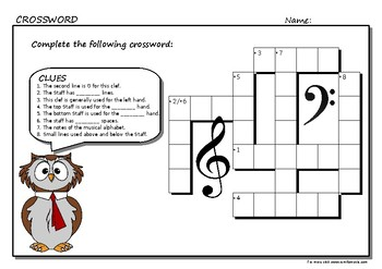 The Staff and Clef Crossword