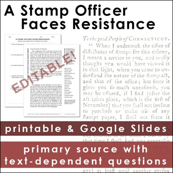 The Stamp Act: A Stamp Officer Faces Resistance