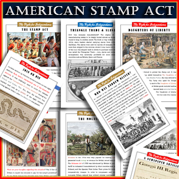 American Revolution⭐ Sugar & Molasses Act ⭐ Tea act ⭐ Stamp Act ⭐ EDITABLE!