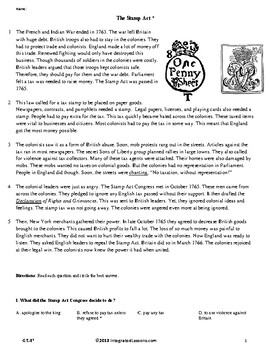 The Stamp Act - Grade 5