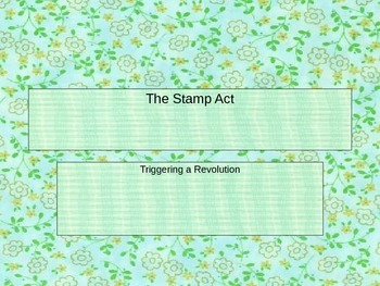 The Stamp Act PowerPoint