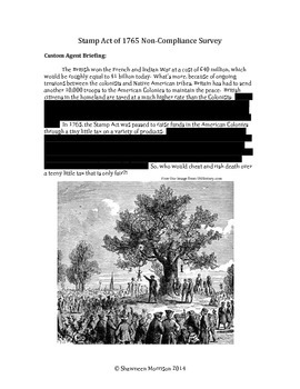 The Stamp Act Simulation - Will You Comply?