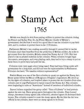 The Stamp Act Of 1765 MJ