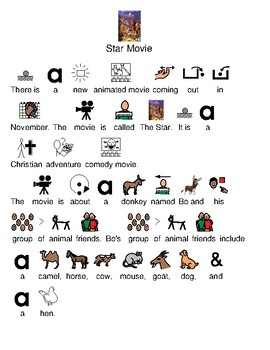 The Star 2017 Movie - picture supported text lesson visuals adapted lesson