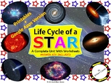 Life Cycle of a Star Unit : | Printable and Digital Distan