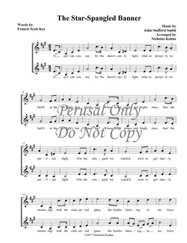 The Star-Spangled Banner 2-Part Arrangement