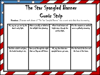 The Star Spangled Banner Comic Strip